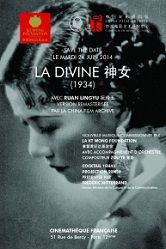 Projection du film chinois 'La Divine' (1934).